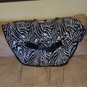 Zebra top with belt